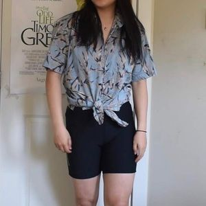 Patterned collared tee shirt